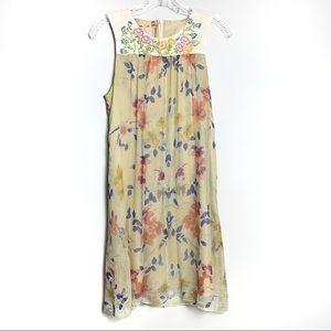 4 Love and Liberty Silk Floral Dress Sz S B-46